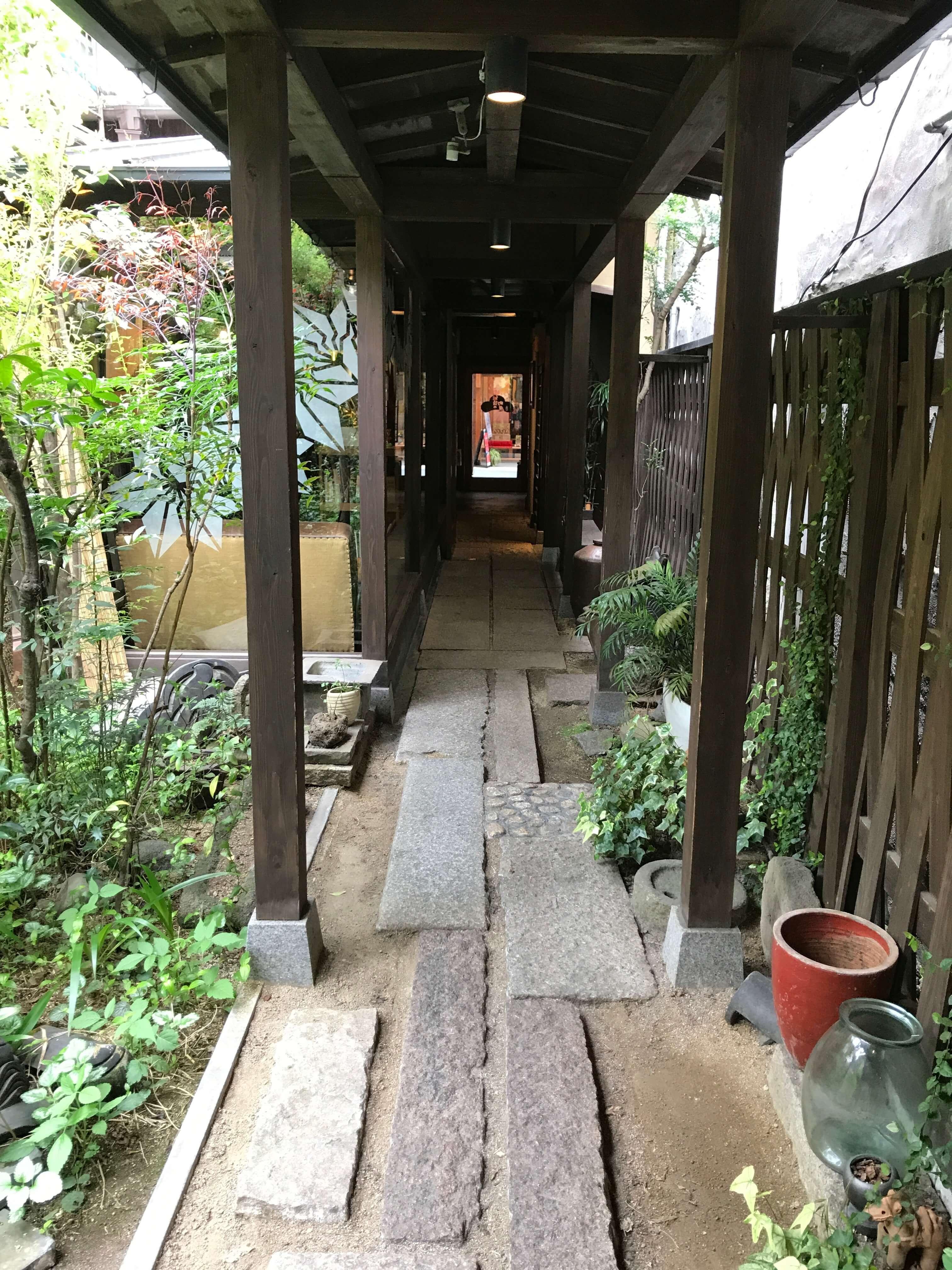 道後の町屋中庭