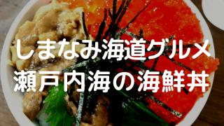 しまなみ海道グルメ 瀬戸内海の海鮮丼