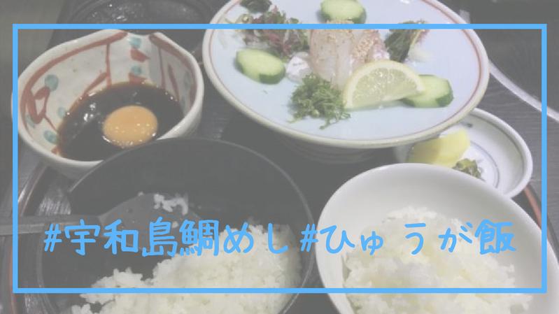 #宇和島鯛めし#ひゅうが飯